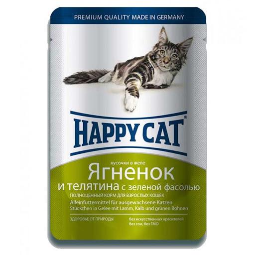 Happy Cat з ягням і телятиною із зеленою квасолею