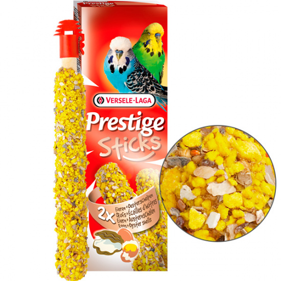 Versele-Laga Prestige Sticks Budgies Eggs&Oyster Shells