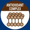 Комплекс антиоксидантов синергичного действия снижает уровень окислительного стресса и борется со свободными радикалами.